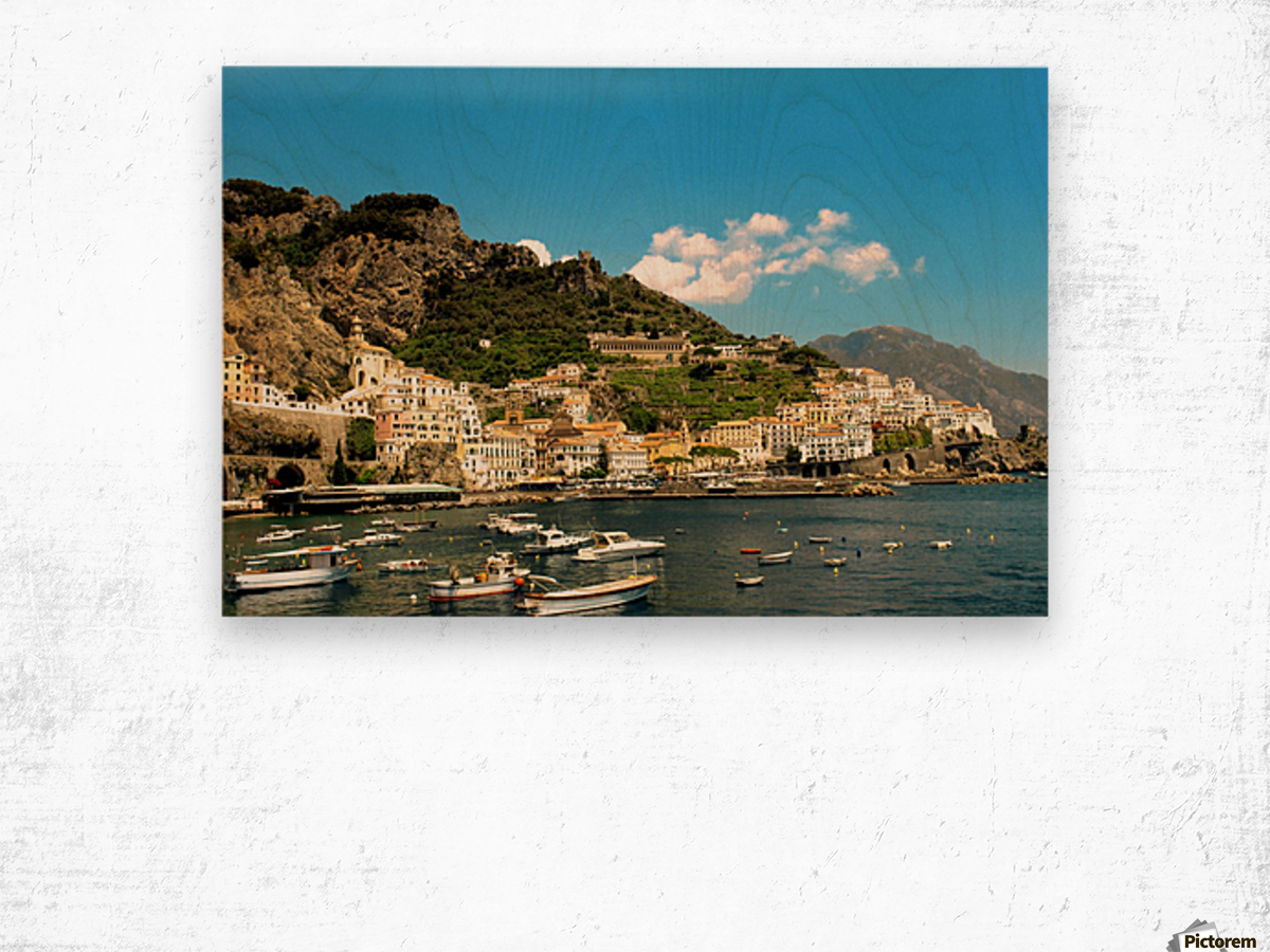 Amalfi Town - Panoramic View - Italy Wood print