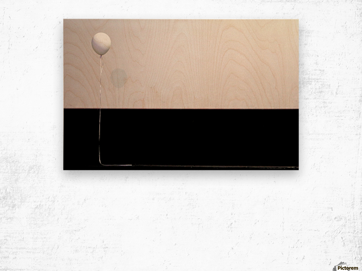 The balloon Wood print