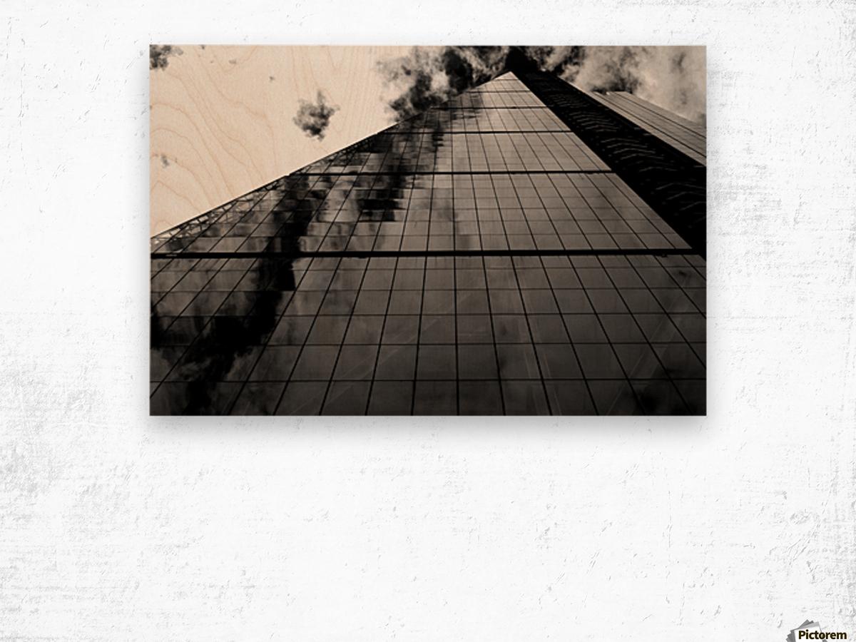 London Skyscraper II - Black and White Wood print