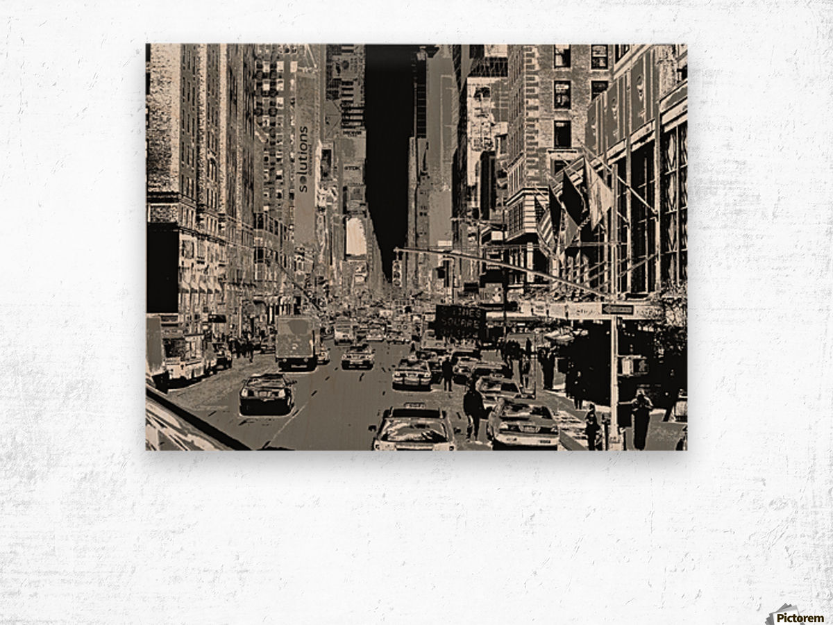 Madison Ave B&W Wood print