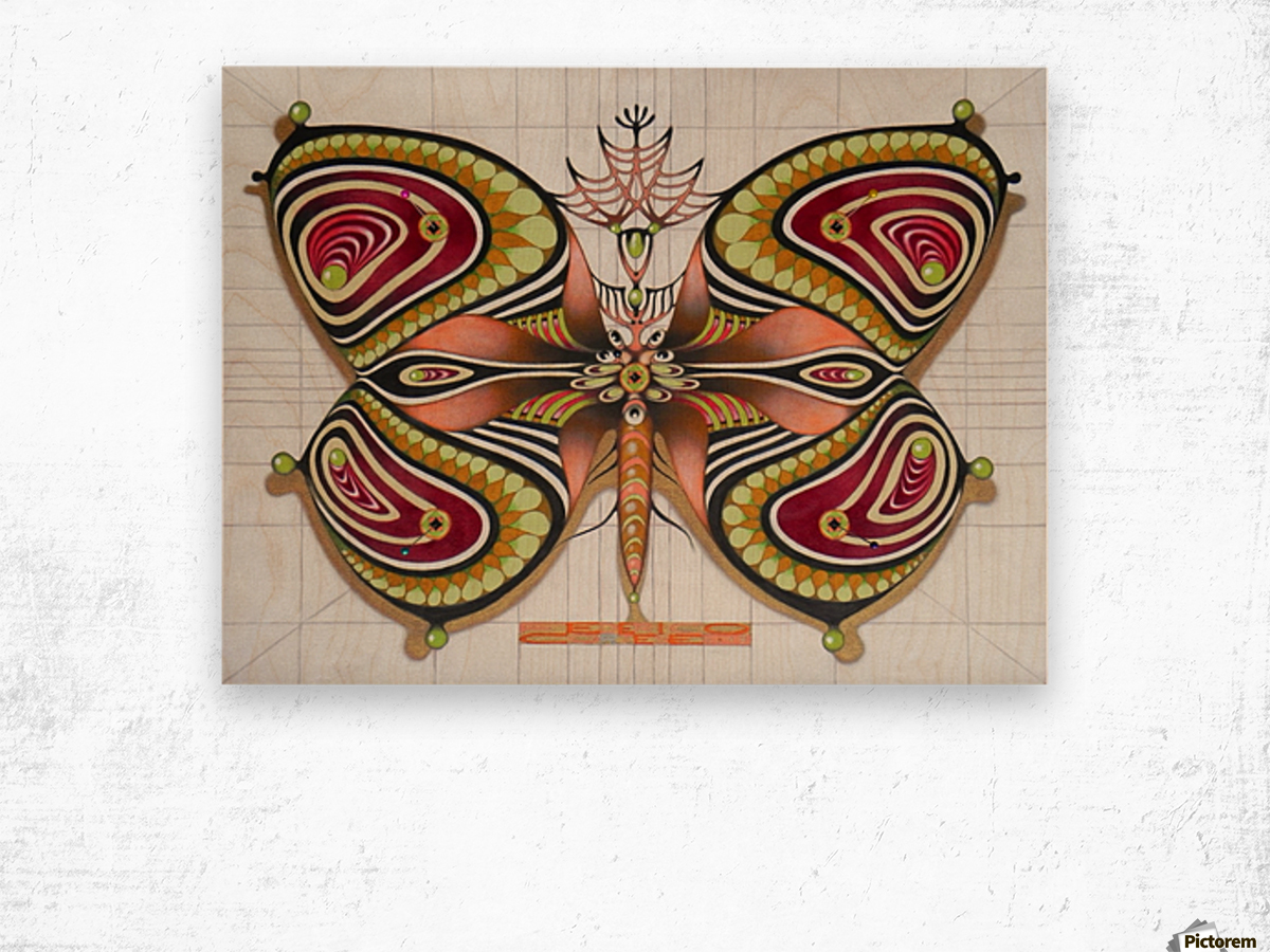butterfly from the twenties Wood print