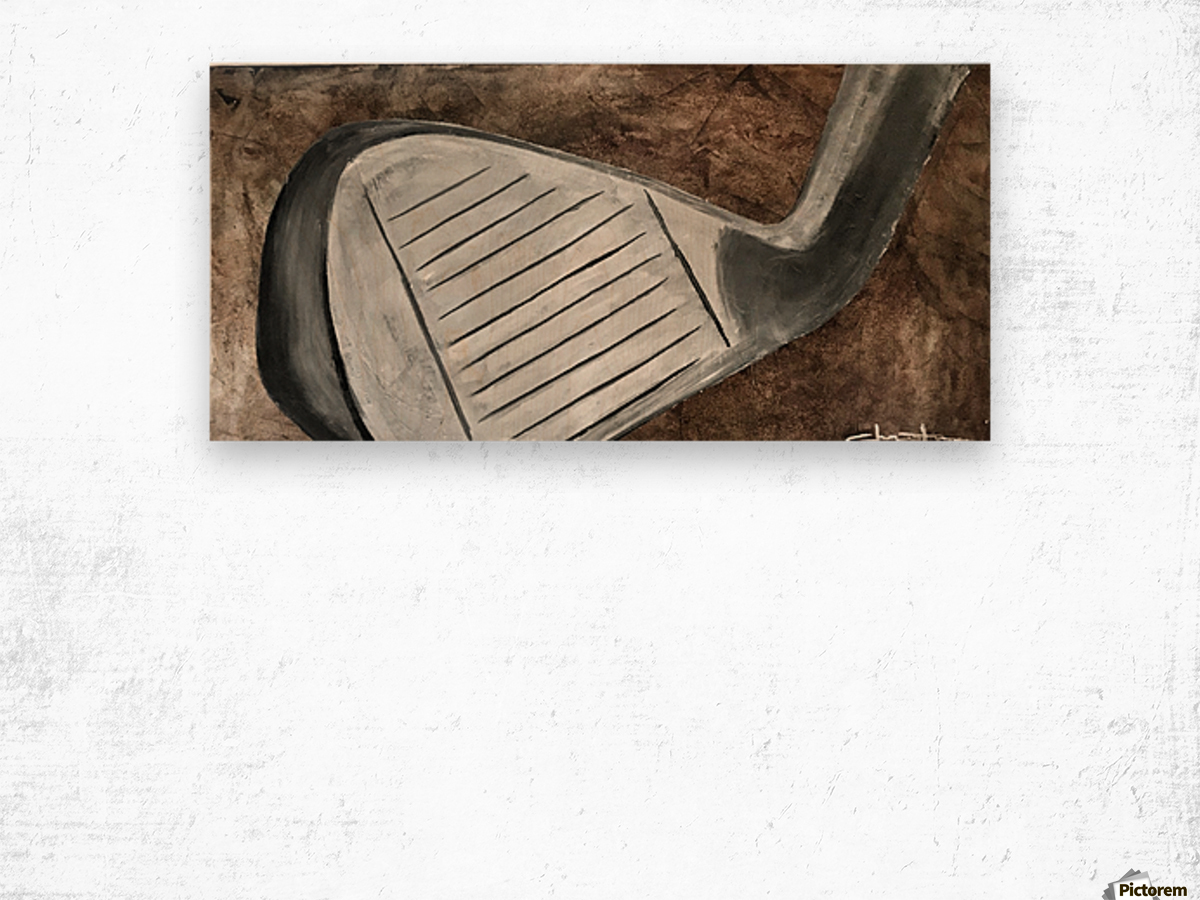 Golf Nouveau I Wood print