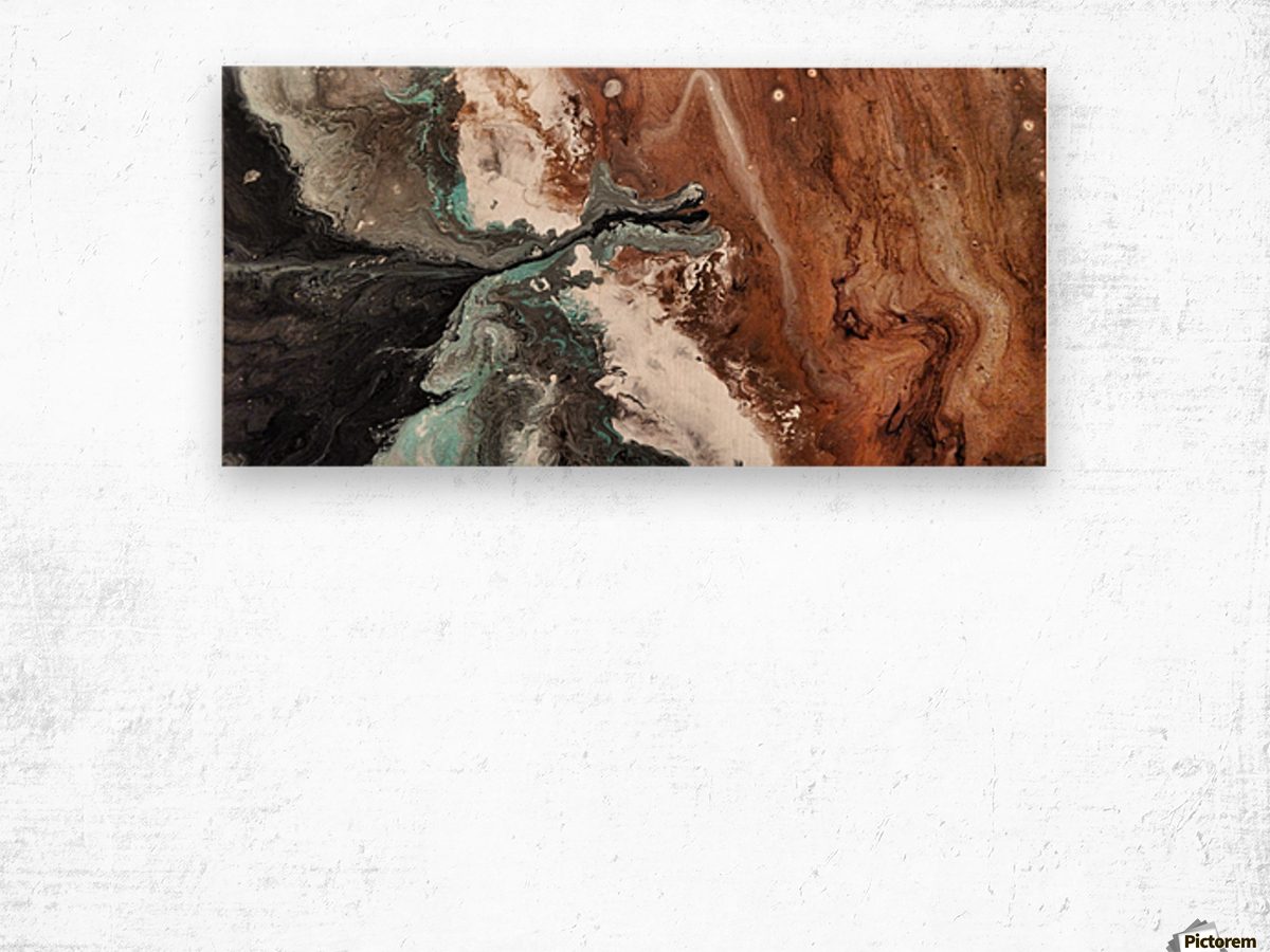 Oilspill Wood print