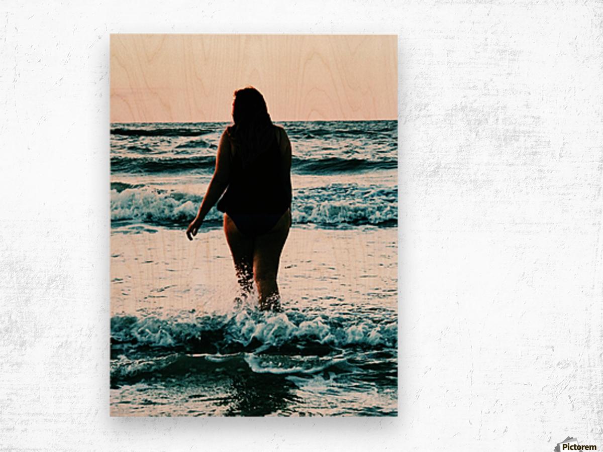 blue sea Wood print