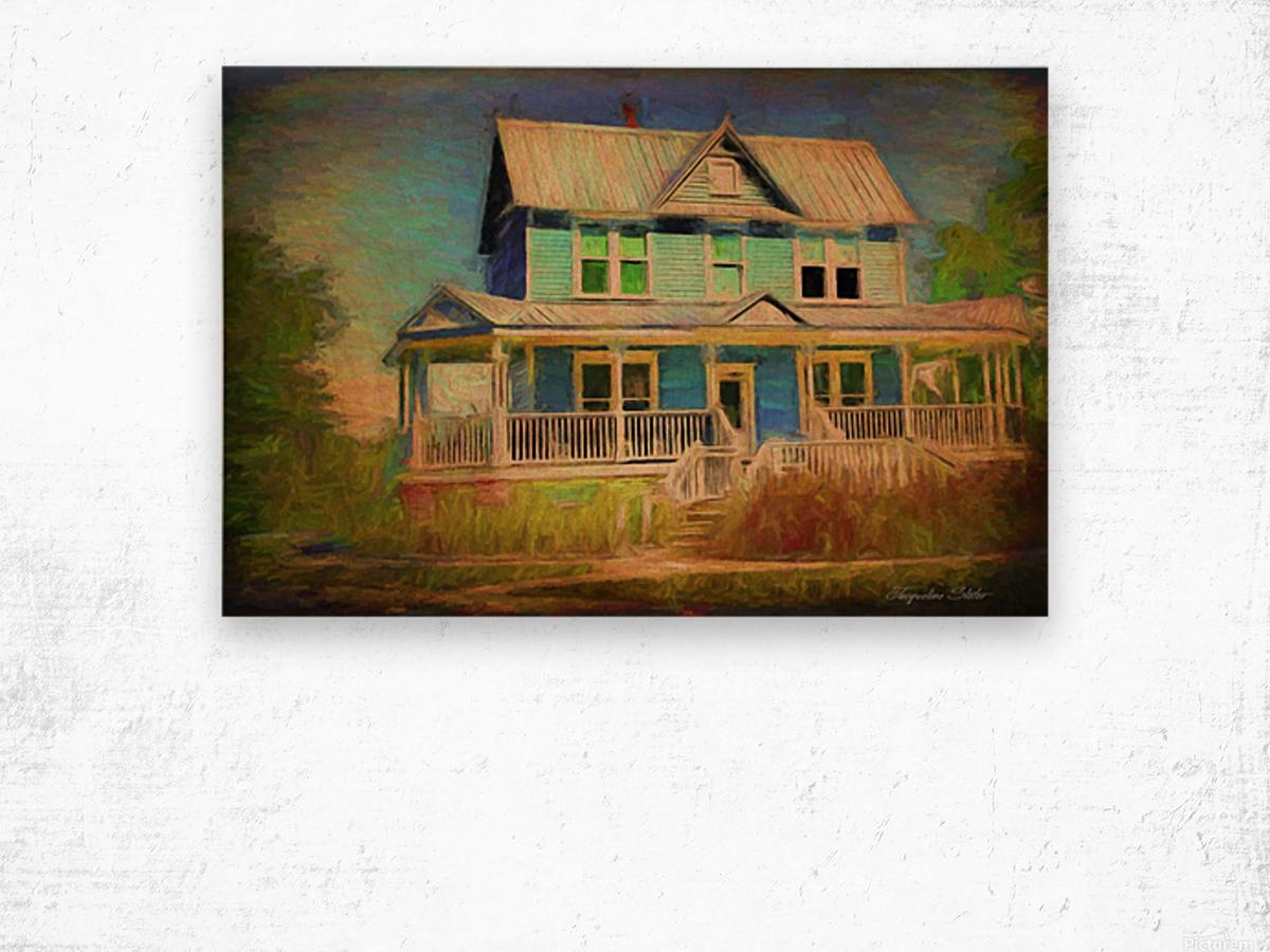 Valentine House Oil Wood print