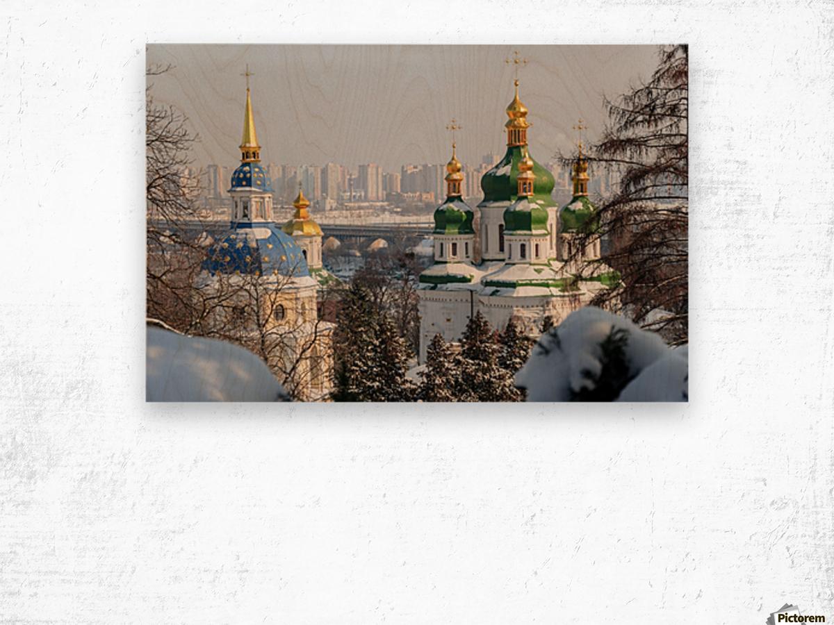 Vydubitskii Monastery in Kyiv Wood print