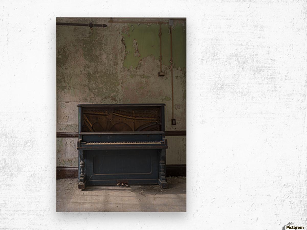 Abandoned Piano Wood print