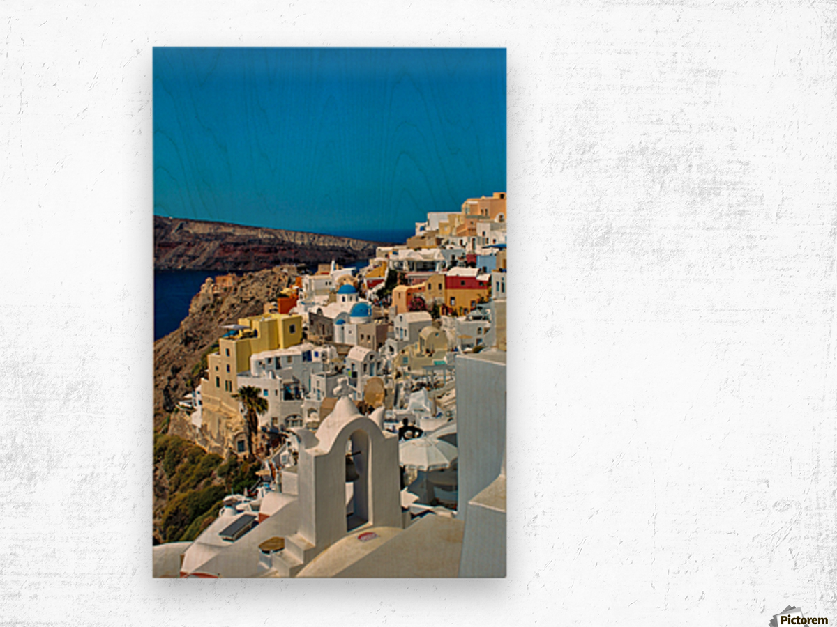Santorini Colourful  Landscape - Greece Wood print