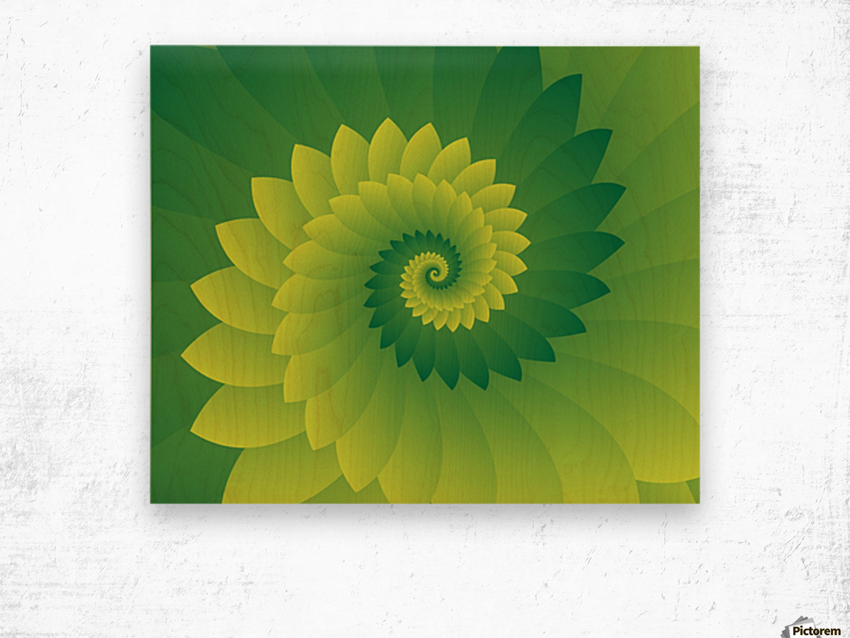 Shiny Greeny Art Wood print
