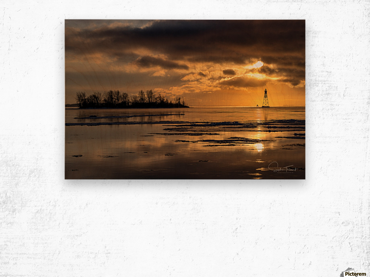 Île Dixie Wood print