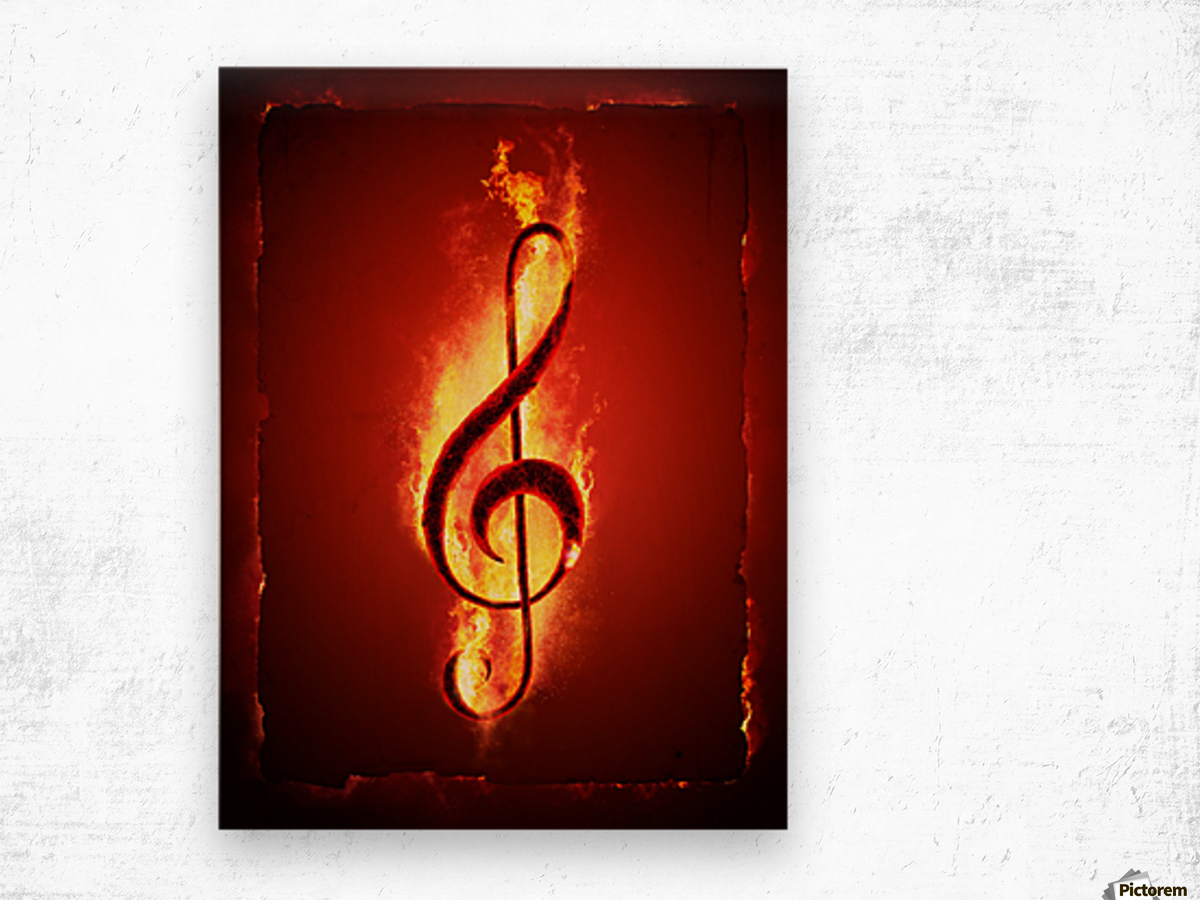 Hot Music Wood print