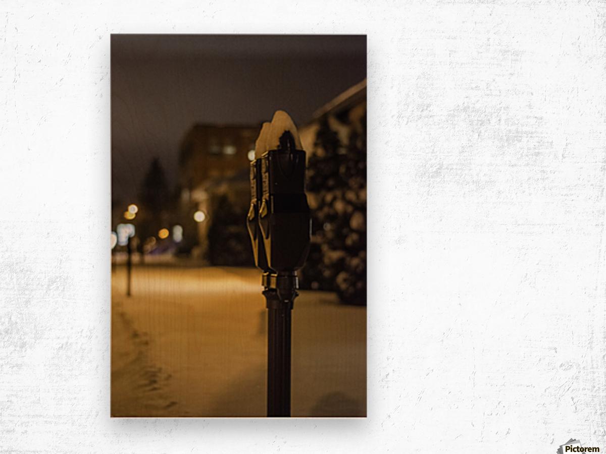 One winter night Impression sur bois