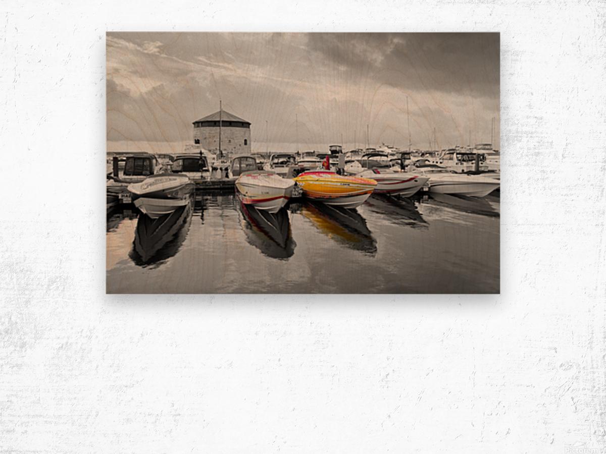 Cigarette Boats Wood print