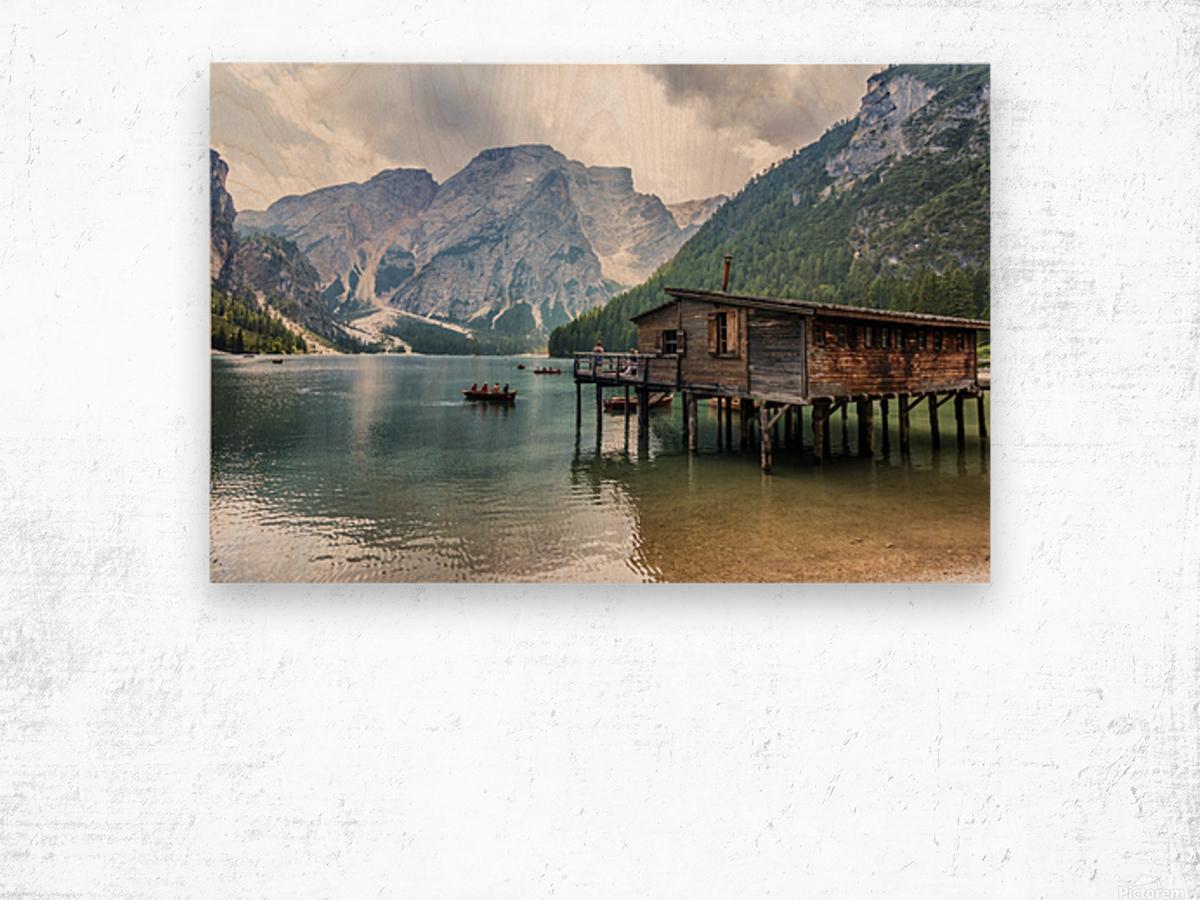 Lake of Braies Wood print