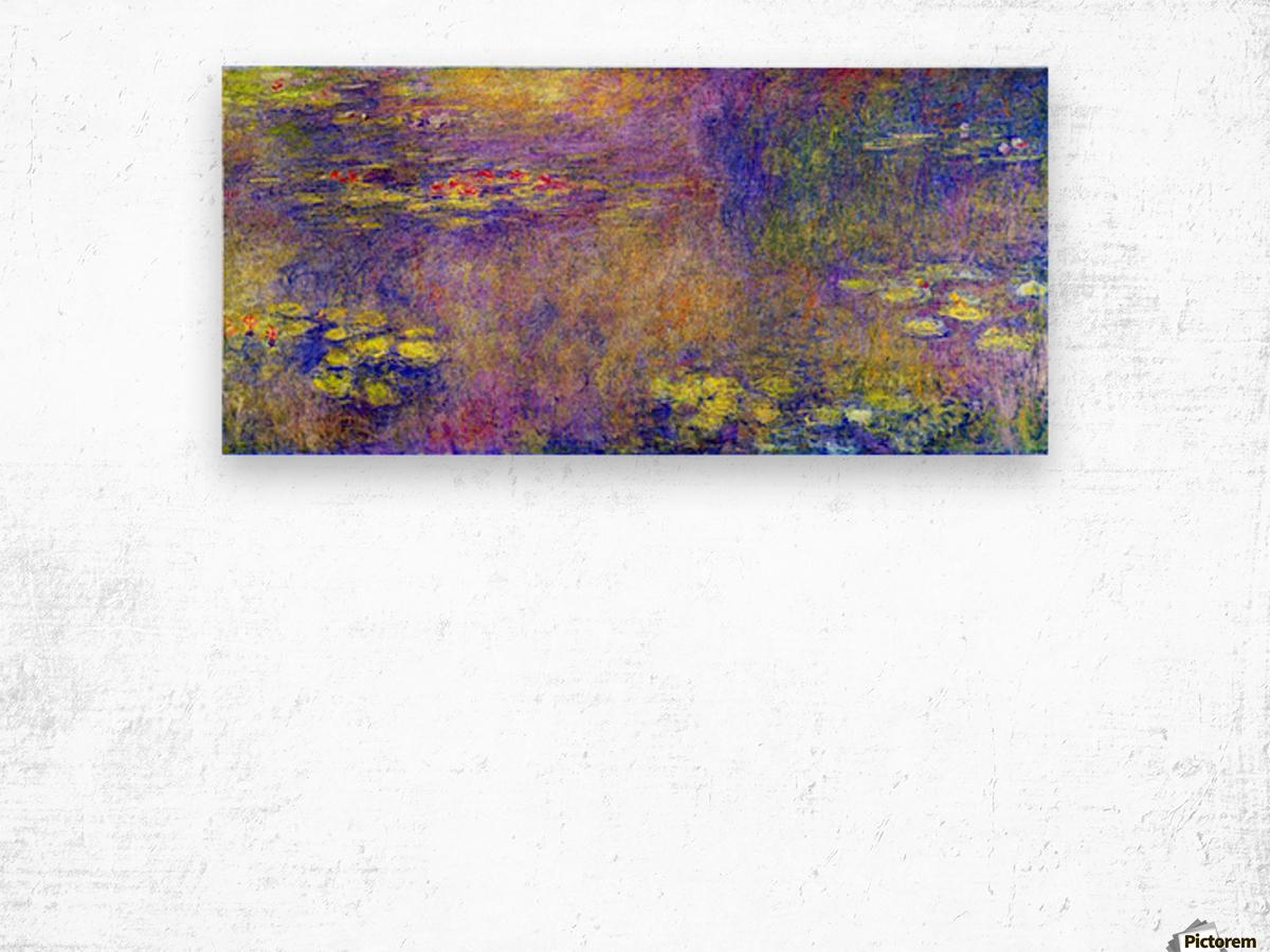 Water Lilies - (Yellow nirvana) by Monet Wood print