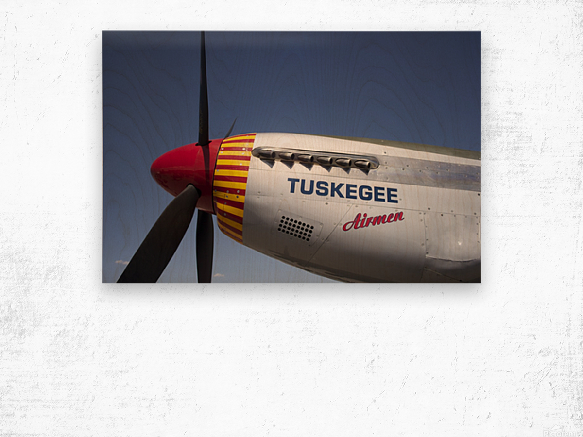 P-51 Redtail Nose Wood print