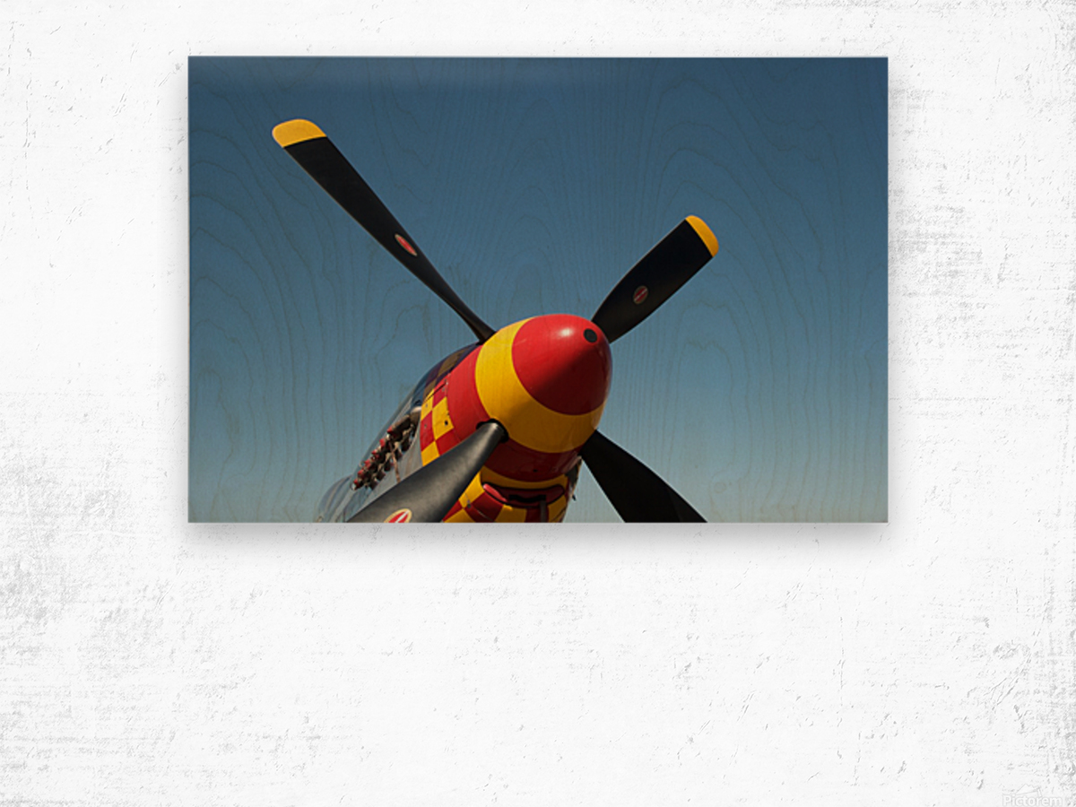 P-51 Mustang Propeller Wood print