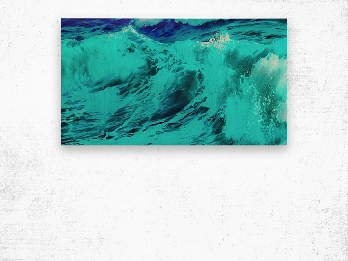 Abstract Wave VII Wood print