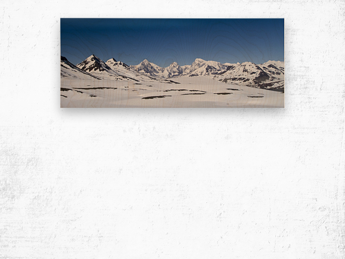 Mountain Range in South Georgia Wood print