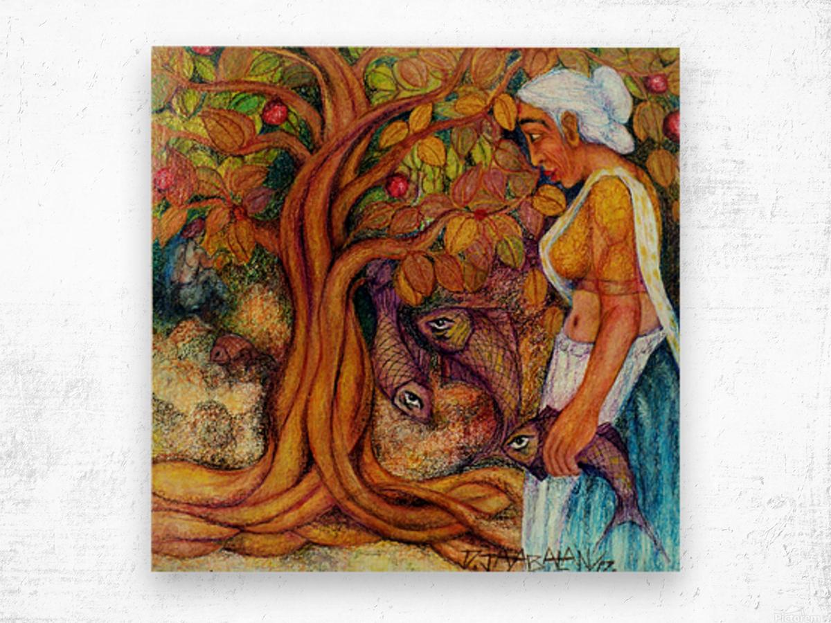 Fisherwomen Wood print