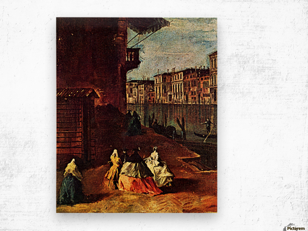 Venice, The Grand Canal with San Geremia, Palazzo Labia, and the Entrance to the Cannaregio Wood print