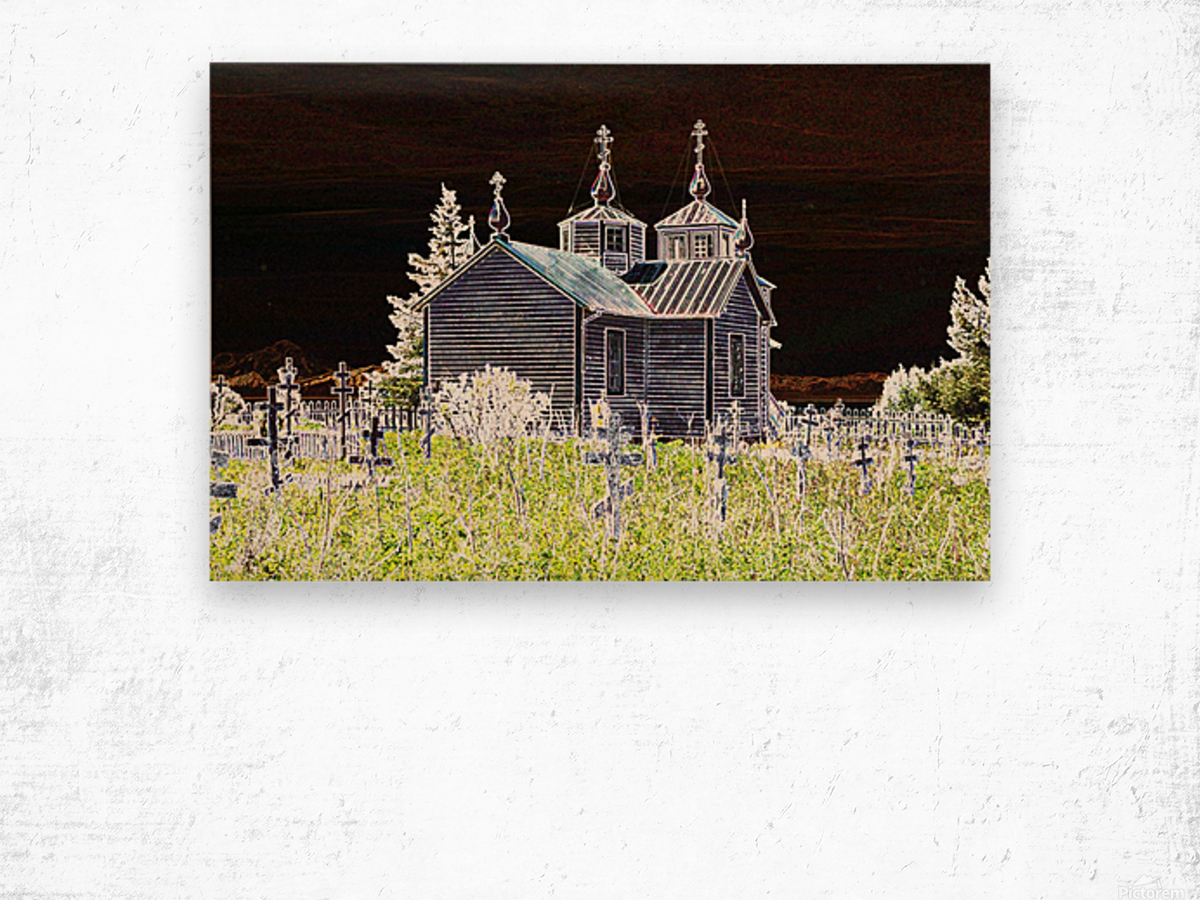 Church in Alaska Wood print