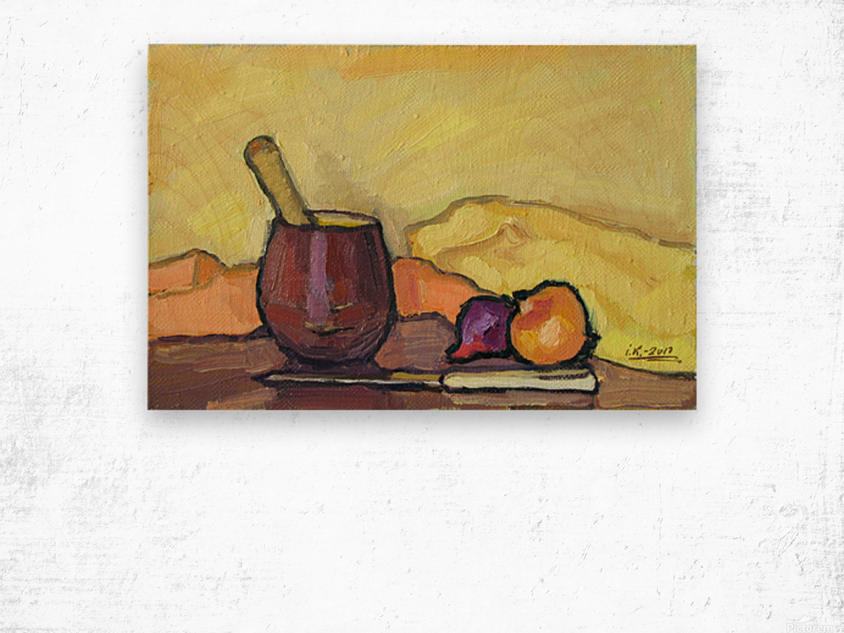 Still Life with Pounder Wood print