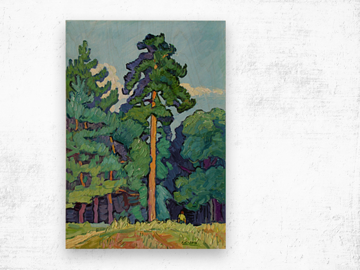 Edge of the Forest Wood print