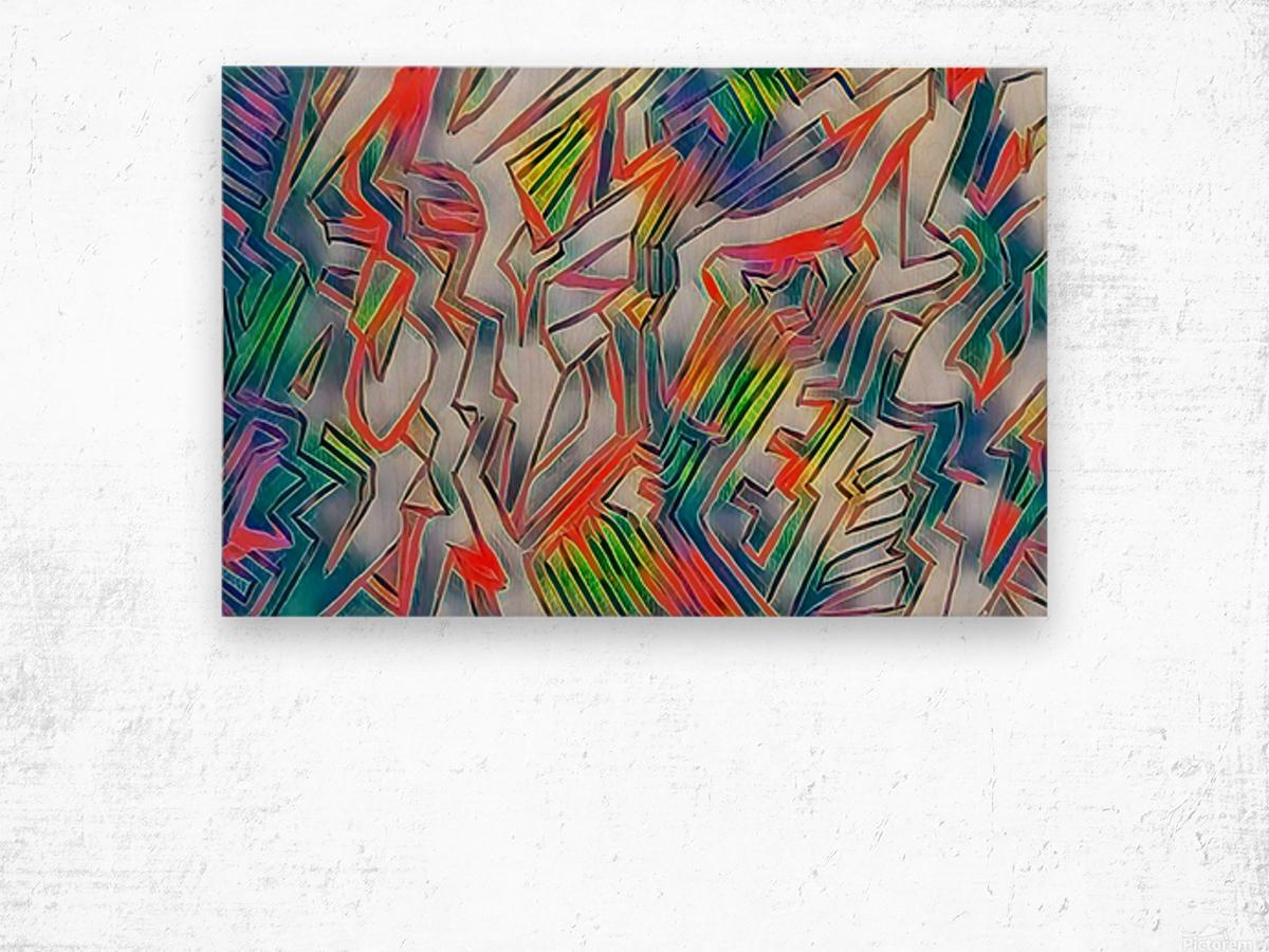 nyrneon Wood print