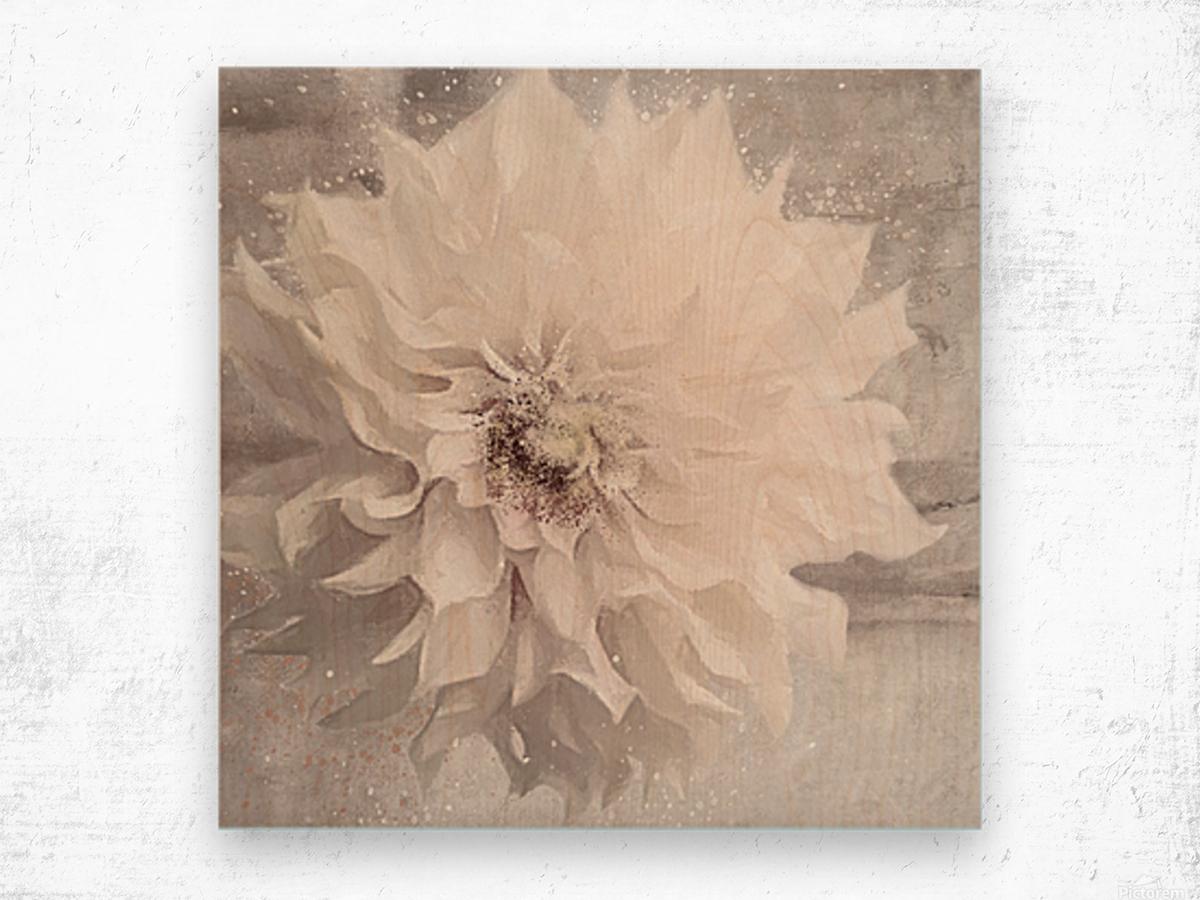 Blanc magique Wood print