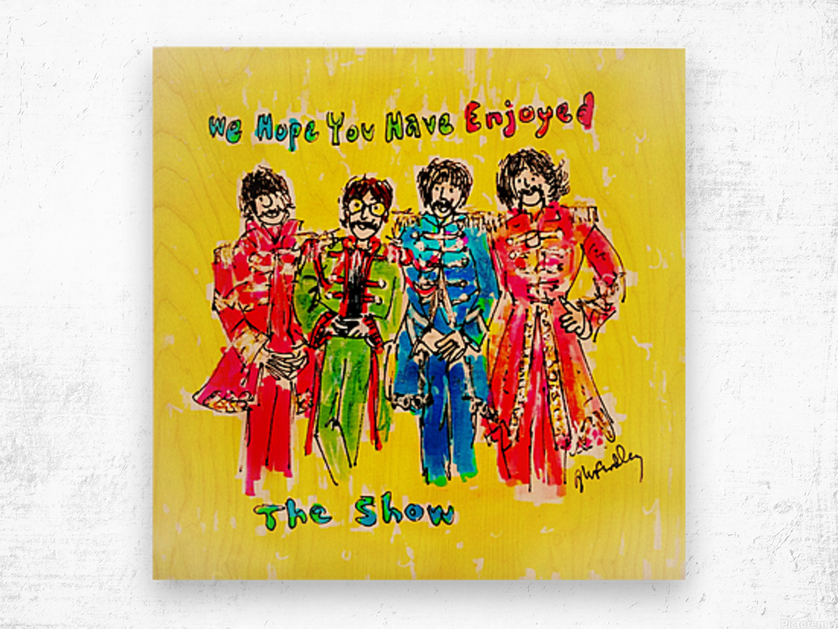 The Beatles - Enjoyed The Show Wood print