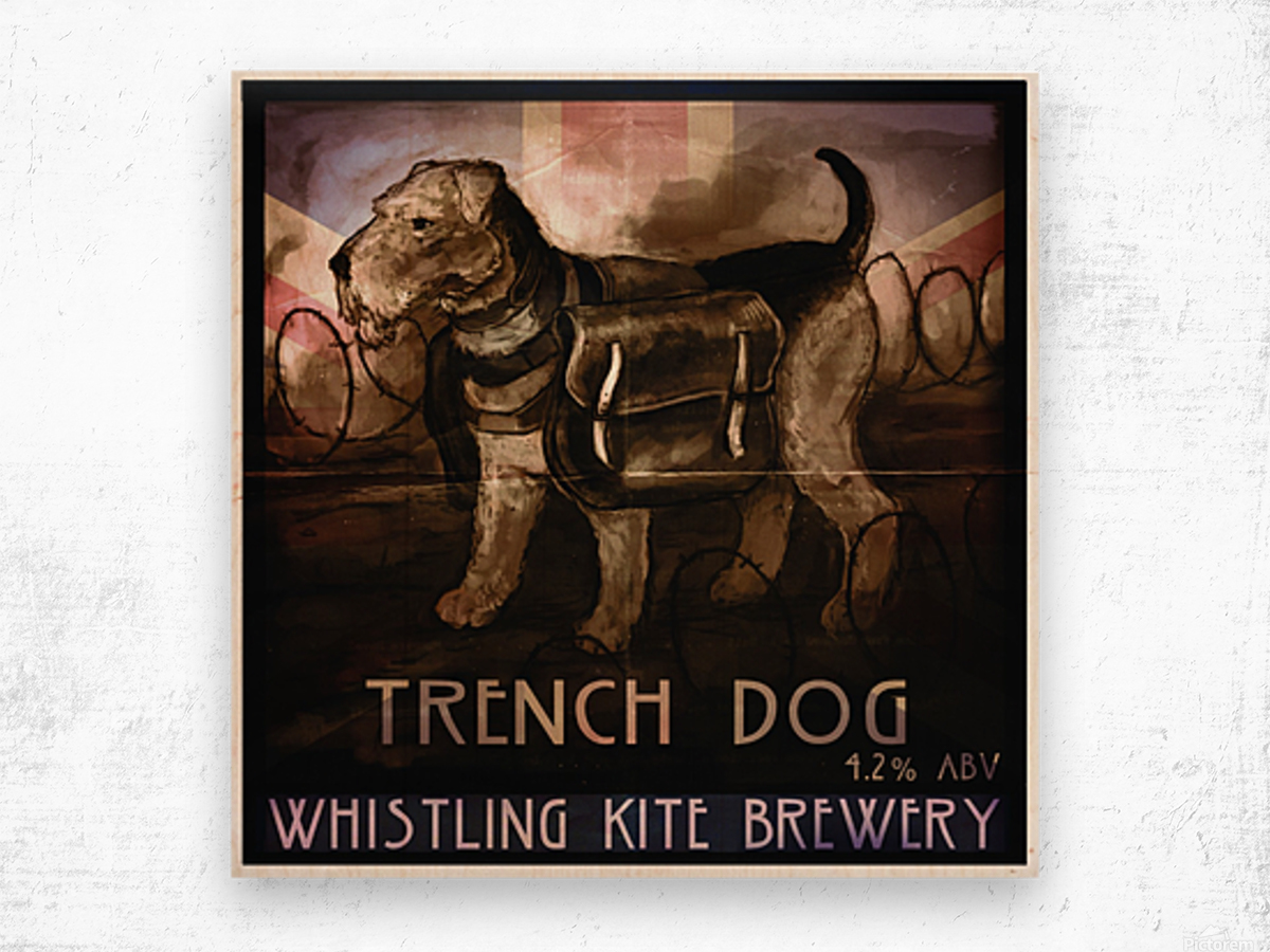 Whistling Kite Brewery: Trench Dog Wood print