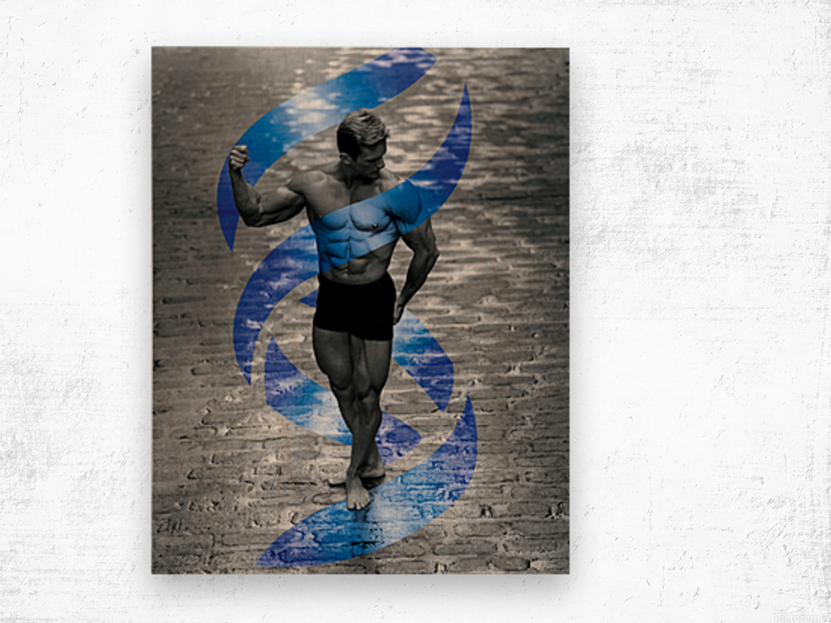 Cobble-Stone Physique with EAS DNA swirl  Wood print