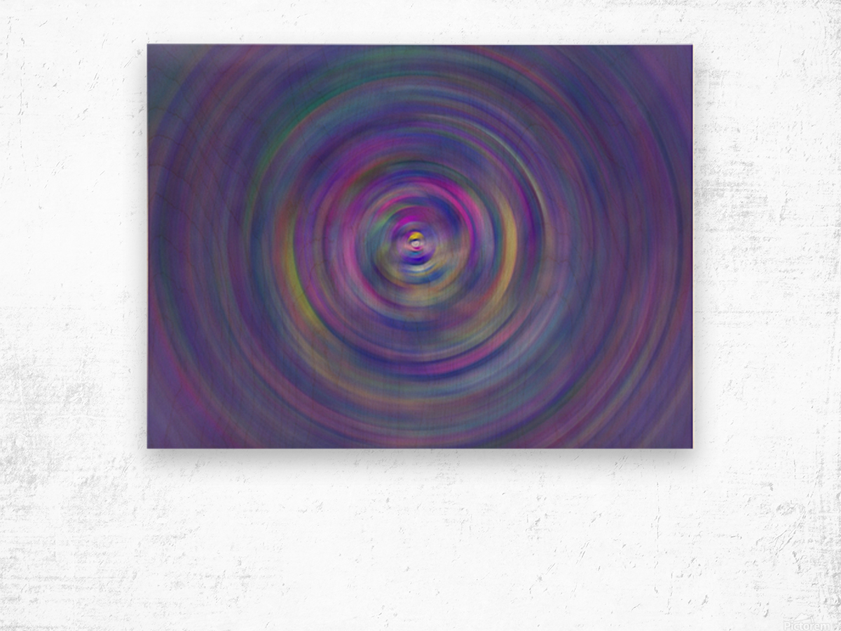 swirl color Wood print