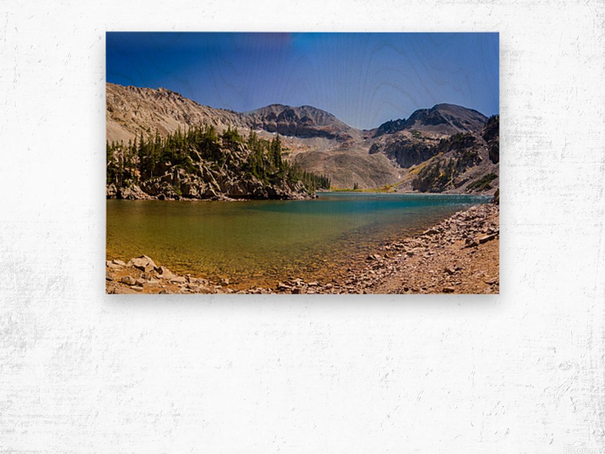 Lake Agnes CO - Glacial Lake  Impression sur bois