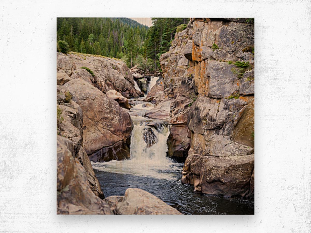 Poudre River Colorado Impression sur bois