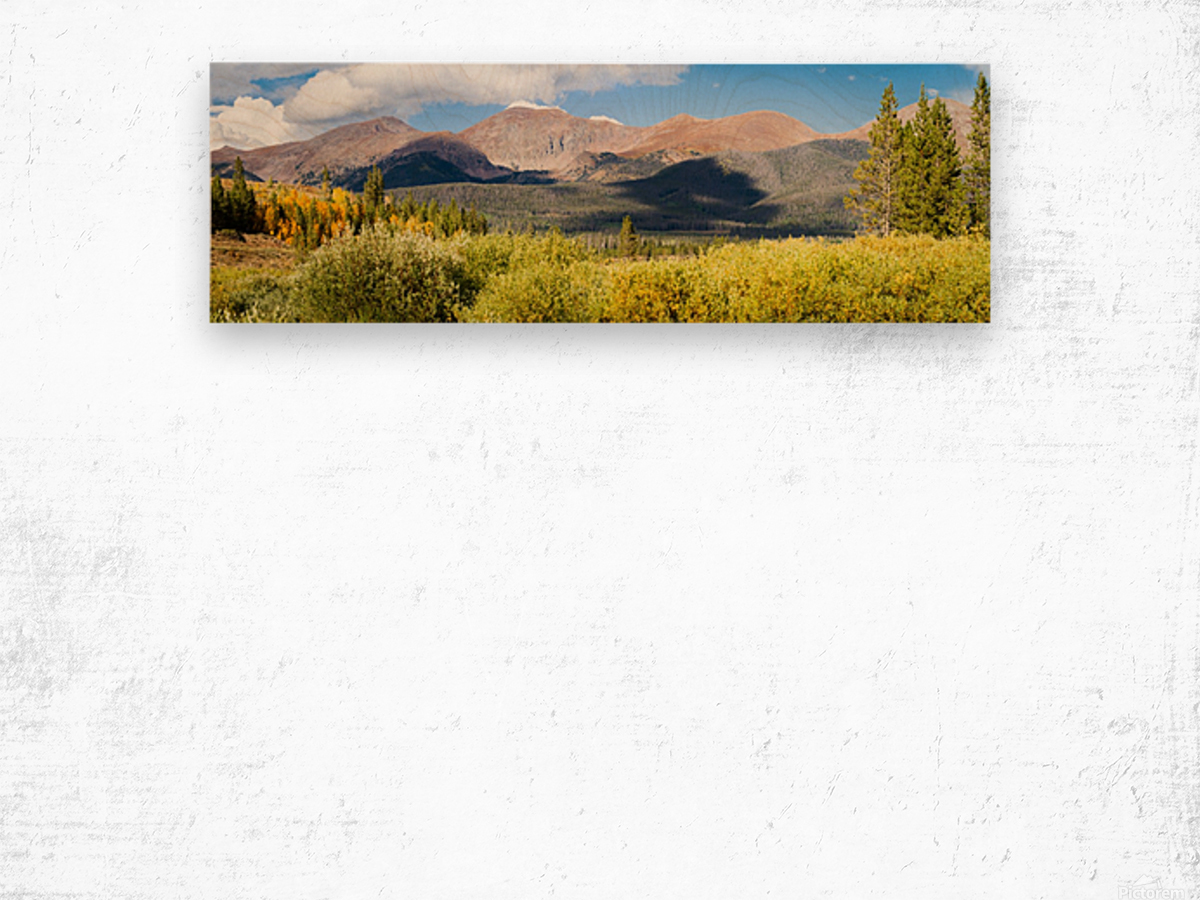 North Park Colorado  Impression sur bois