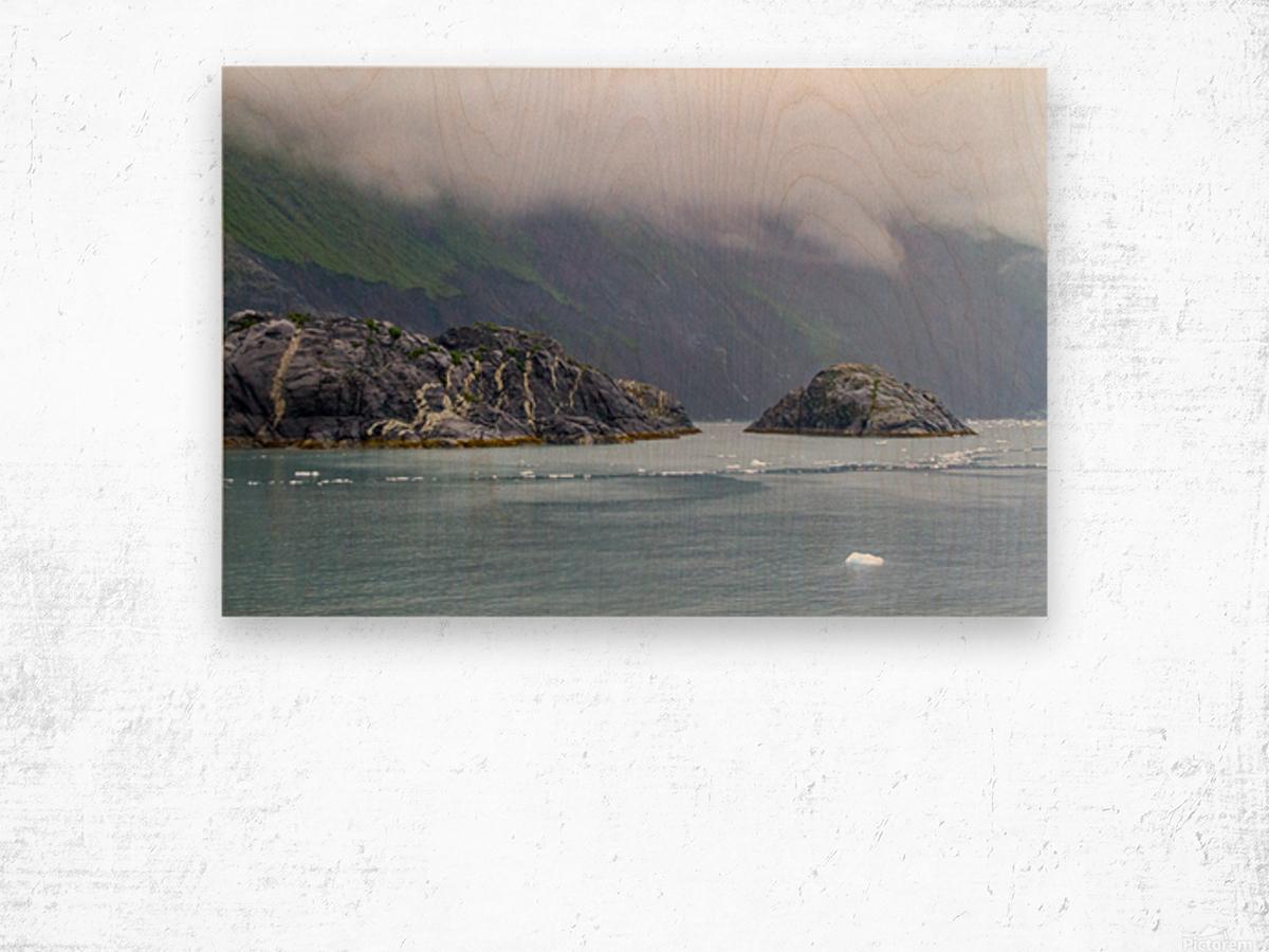 Alaska Scenery Pictures of Icebergs  Impression sur bois