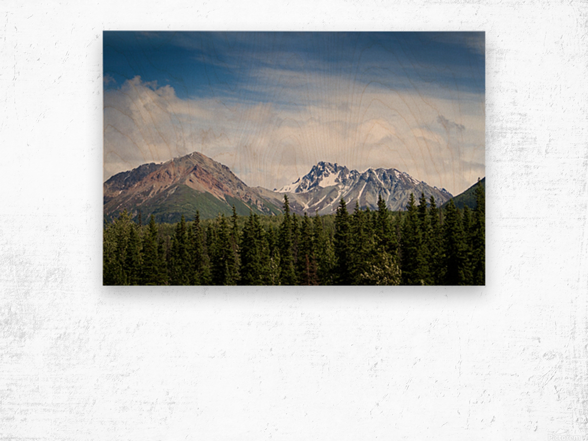 Photos Alaska Mountains Impression sur bois