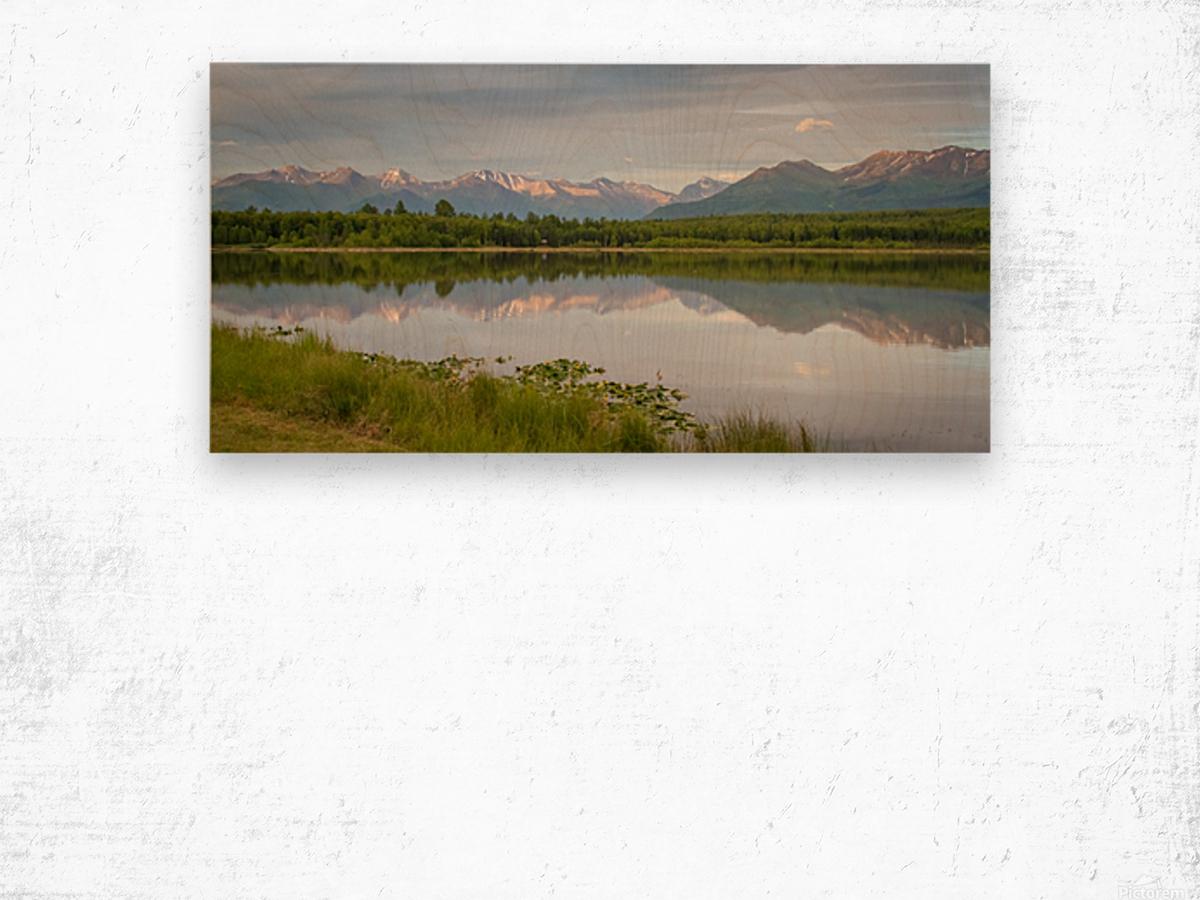 Photos Alaska Mountain Impression sur bois