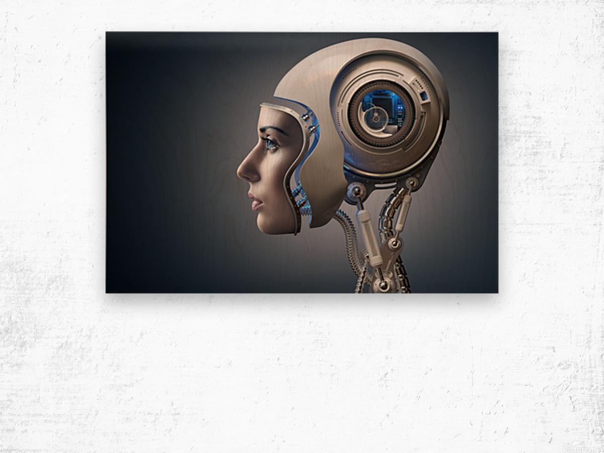 Next Generation Cyborg Wood print
