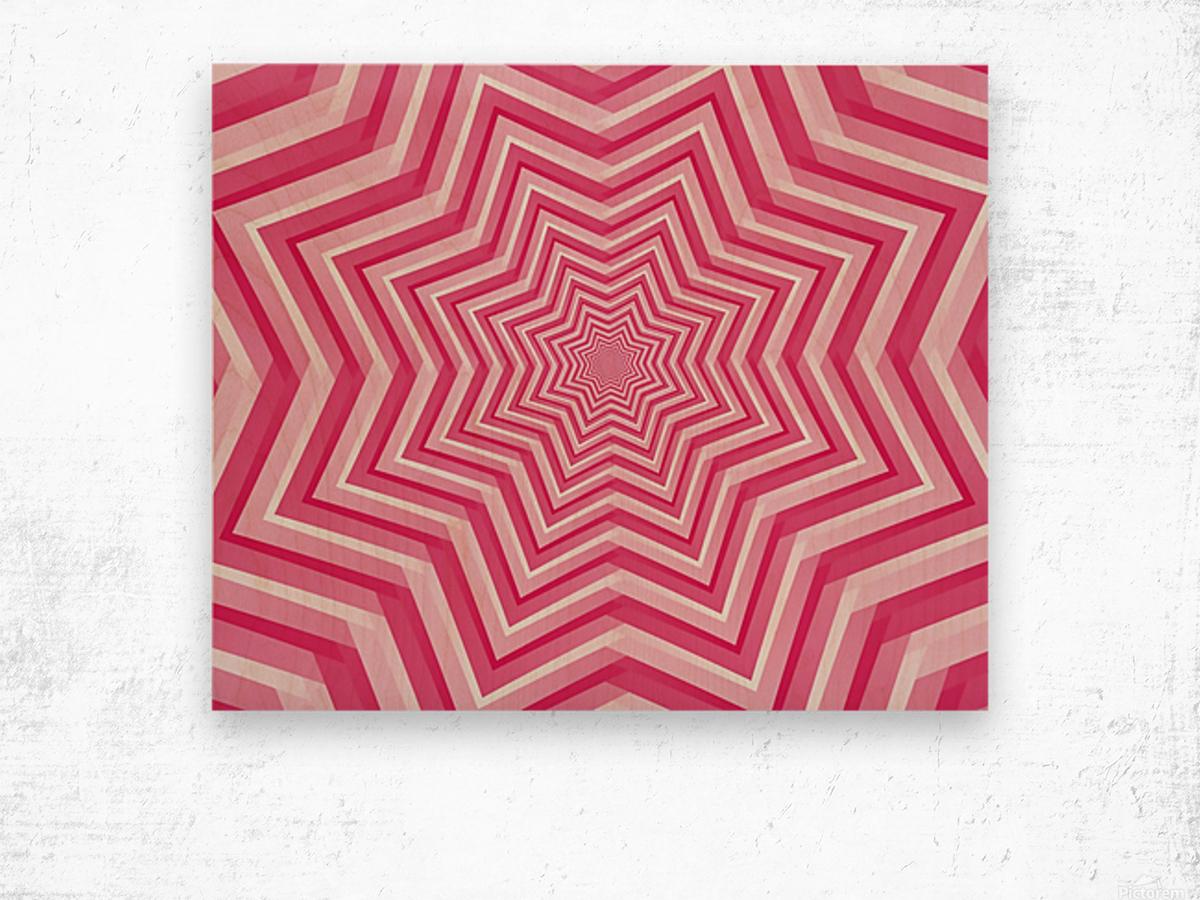 Pink Geometric Design Art Wood print