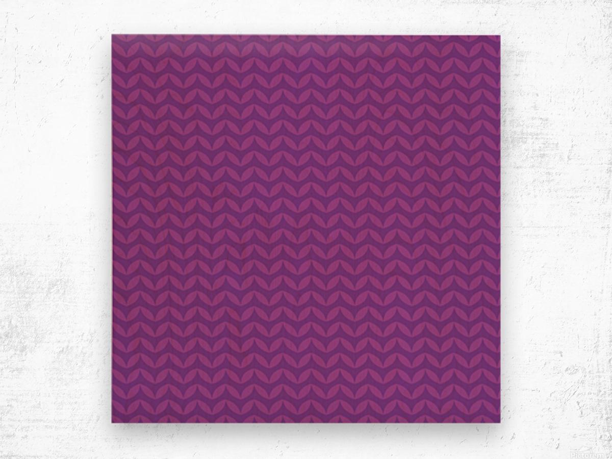 Wavy Seamless Pattern Art Wood print