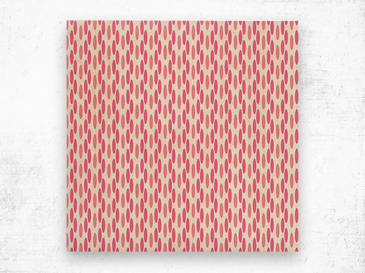 Pink Seamless Pattern Artwork Wood print