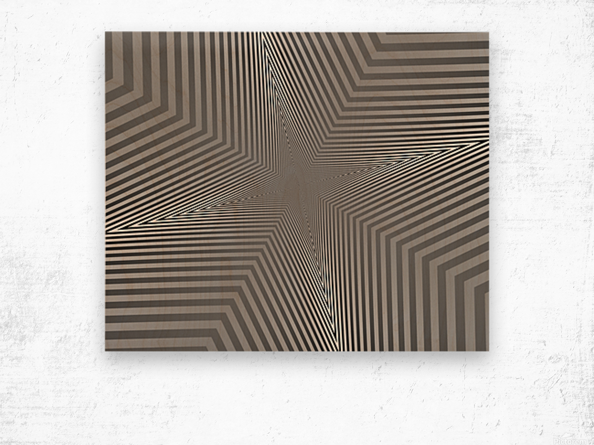 Crazy Loop Wood print