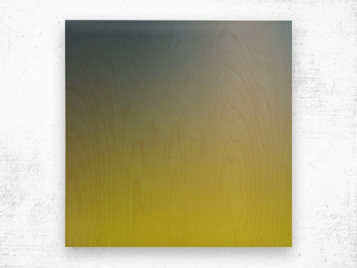 Green Gradient Background Wood print