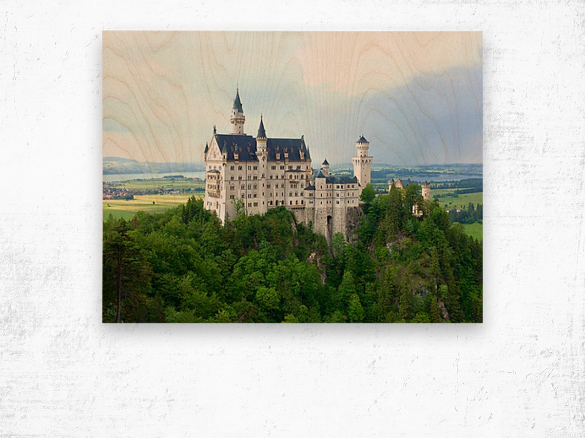 Nueschwanstein Castle Wood print