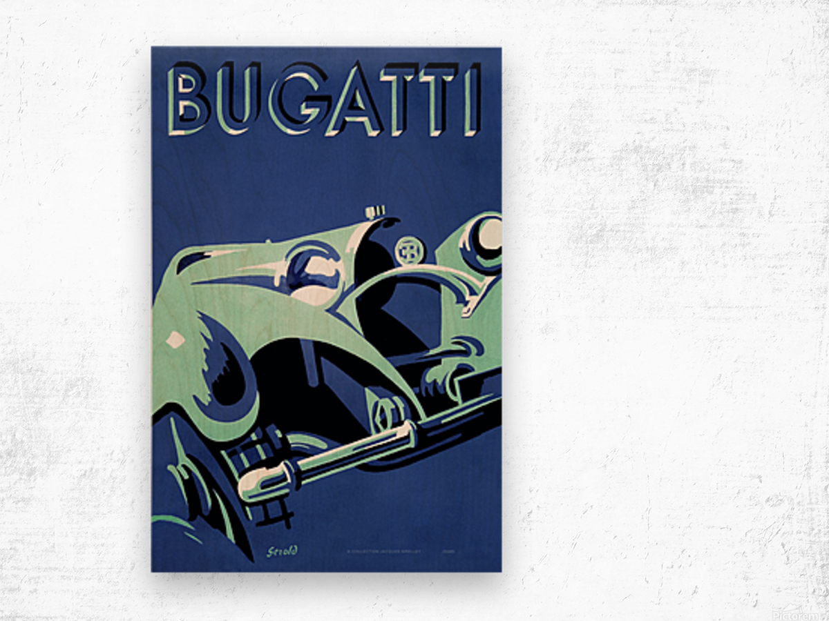Bugatti Type 50 Super Roadster 1932 Wood print