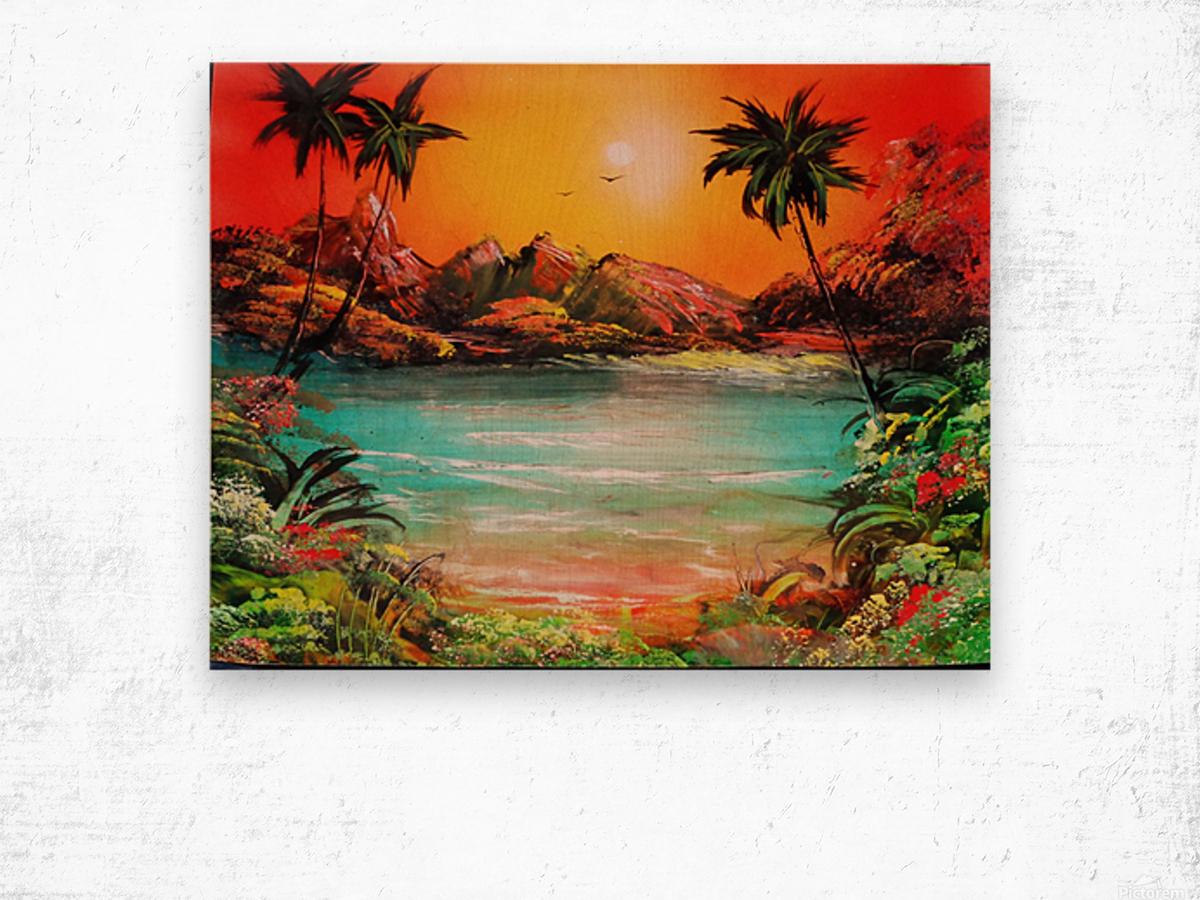 Jungle beach Wood print