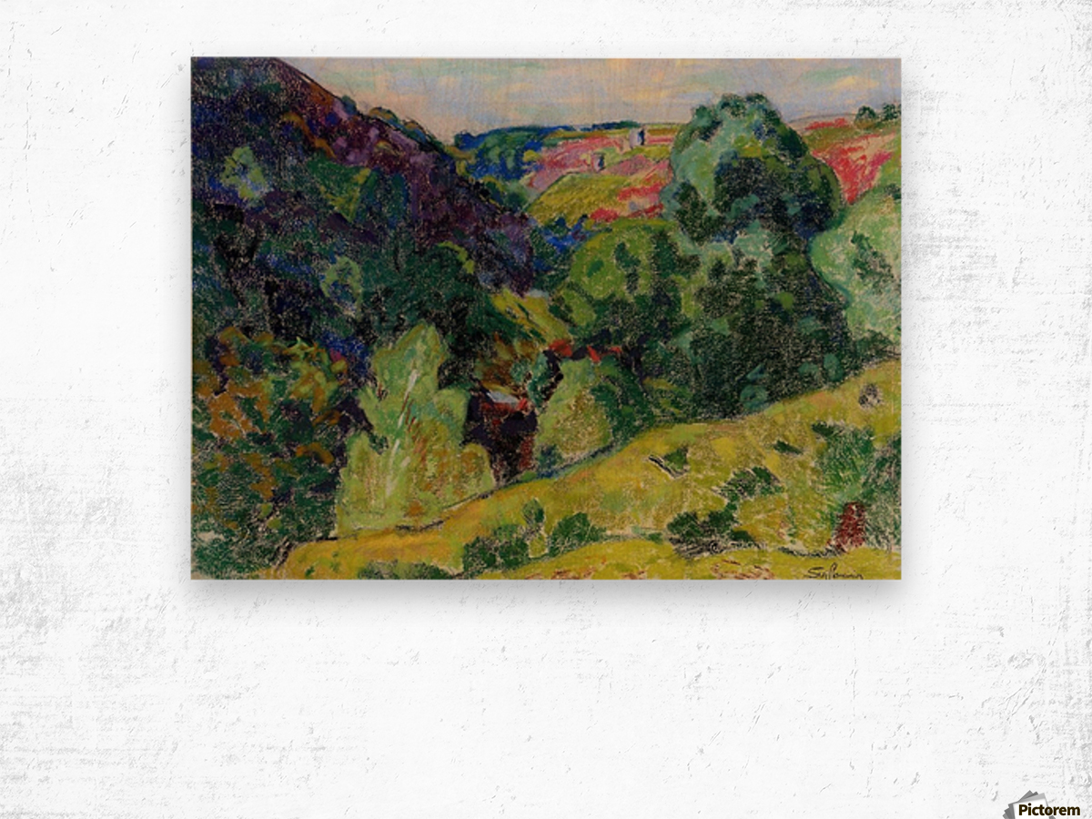 Landscape of the Creuse Wood print